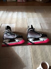 Mission Size 8 Ice hockey boots- barely worn