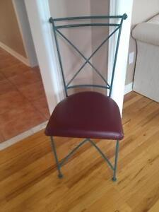 Beautiful Wrought Iron Chairs With Leather Seats (Qty.6)