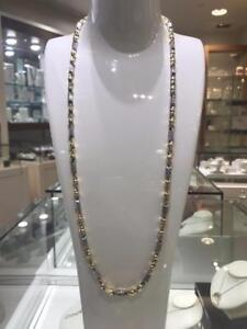 2 Tone 10k Gold Versace Chain 28 inches 5.5mm 25.4 grams