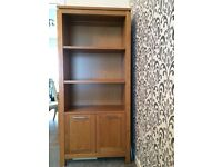 SOLID OAK tv cabinet and tall unit