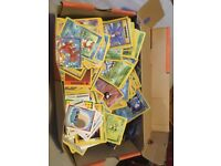Job lot box of pokemon cards from late 90s