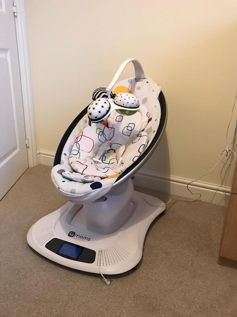 Mamaroo 4moms baby chair/rocker with babocush cushion and newborn insert |  in Pontardawe, Swansea | Gumtree