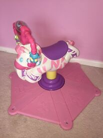 Pink Bounce and Spin Zebra