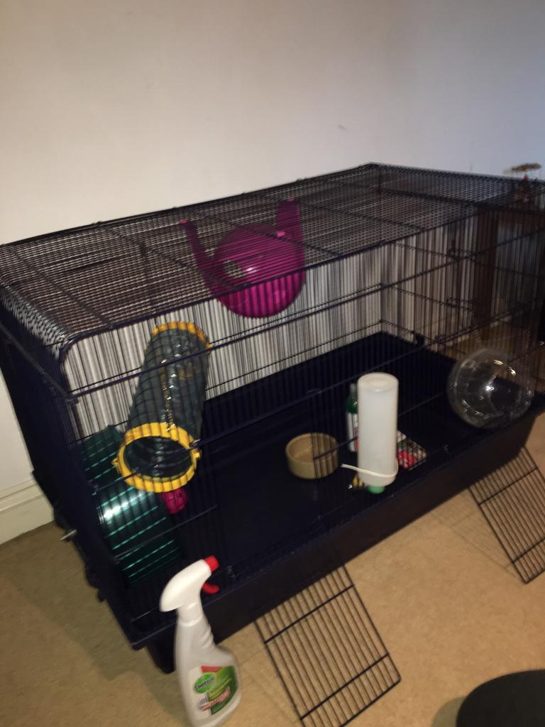 Large - Rat or small animal cage barely used.