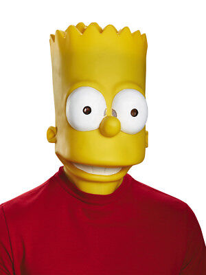 Adult Deluxe BART SIMPSON MASK The SIMPSONS Costume Mask - Bart Simpson Costume