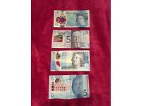 Rare plastic banknotes
