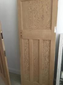 1930's interior wooden door