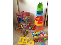 Baby Toys - Lego, Wooden Bead Frame, Building blocks, ELC Stack & Drop Froggie