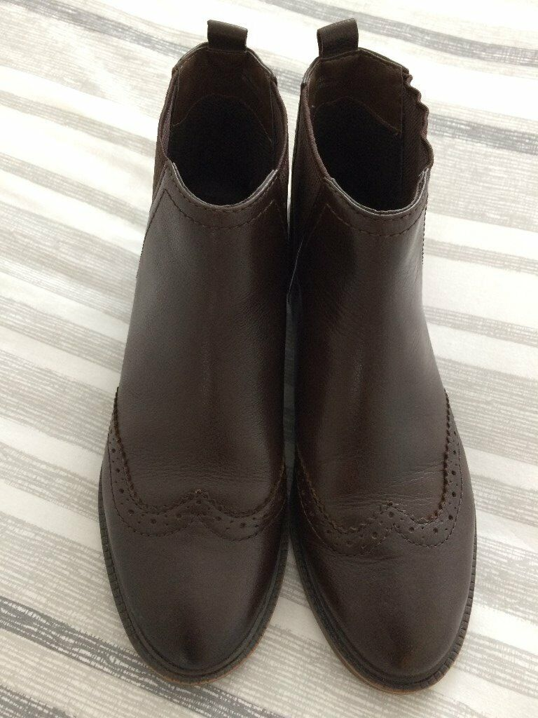10b2dd917127a ladies brown real leather chelsea boots, size 6 (39) | in Southside ...