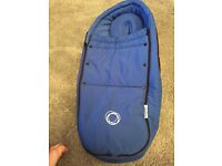 Bugaboo bee plus cocoon in royal blue.