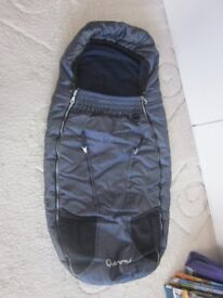 Quinny Buzz footmuff, vguc, barely used, navy blue/black