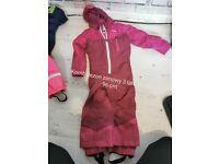 2x waterproof winter suit for girl 3 year