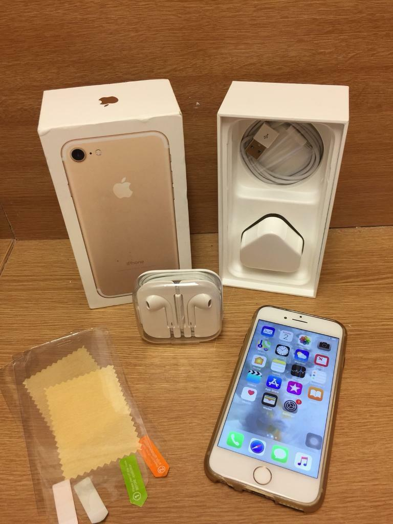 Reduced Iphone 7 128gb Gold Boxed With New Accessories In Iphone7
