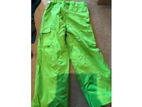 Rip curl men large salopettes skiing boarding brand new