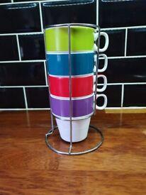 Mug set with stand