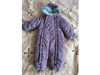 Baby girl winter snowsuit
