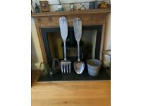 4 Foot Metal Cutlery Display Set