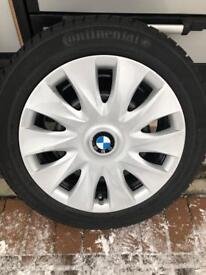 GENUINE BMW WINTER WHEELS/TYRES AND WHEEL TRIMS £400