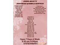 Jasdil beauty/mobile beauty/ homebased/waxing/threading/facials