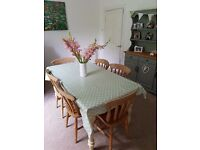 Farmhouse table and 6 chairs