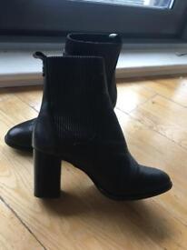 Kurt Geiger Black Leather Boots Size 5