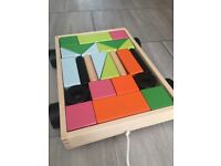 Ikea toddler pull along wooden puzzle