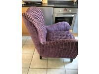 NEXT purple Sherlock armchair