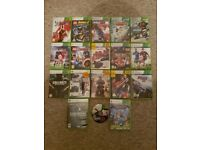 BUNDLE - 2 consoles Xbox 360 - 18 games - 4 controllers - 2 headsets