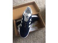 Brand new boxed blue adidas gazelle sizes 8 and 9