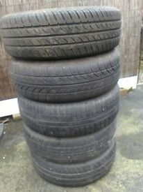 5 steel wheels with tyres 175/65R14