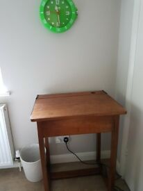 Children's school desk- original oak Victorian