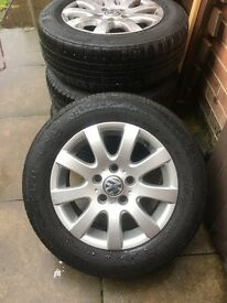 Vw alloy wheels 5 stud original set