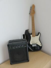 Guitar, Electric, Rockwood by Hohner and FX-15 Amp
