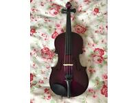 Purple Violin 1/4 Size Ages 6-9yrs