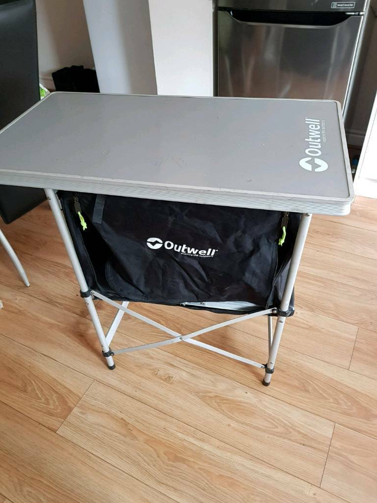 Camping cooking table