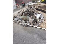 Rubble for backfilling