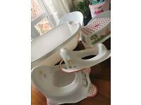 Mama and papas baby bath, Peppa pig toilet potty, toilet seat and stool.