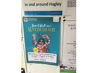 Ratburger 1 adult 2 children Friday 5/8/16 at hartleybury castle