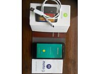 Motorola XT 1032 Moto G black boxed mobile phone usb charger headphones and case good condition