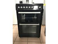 Hotpoint electric cooker EW84K ceramic double oven 3 months warranty !!!!!!!!!!