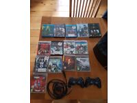 Tv + Ps3 with 9 games + 4 controls + poker kit + headsets