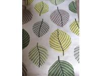 Rug, curtains & cushions