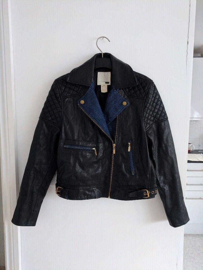 Women's Levis real leather biker jacket size S