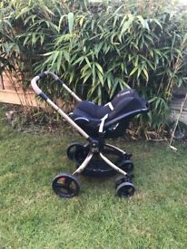 Mothercare Orb Rose Gold & Black Buggy
