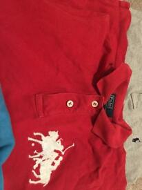 3 genuine Ralph Lauren t shirts and 1 sweater age 7