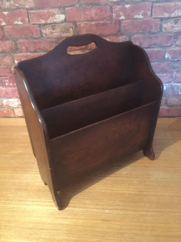 Vintage Magazine rack / side table