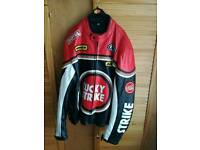 Lucky strike leather jacket xxl great jacket