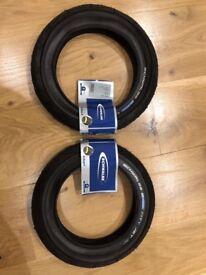 2 Schwalbe active city jet k-guard tyres 12 x1.95