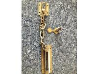 Door safety chain and spyglass
