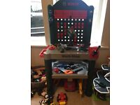 Kids brand new Bosch workbench_already assembled with extra toys included